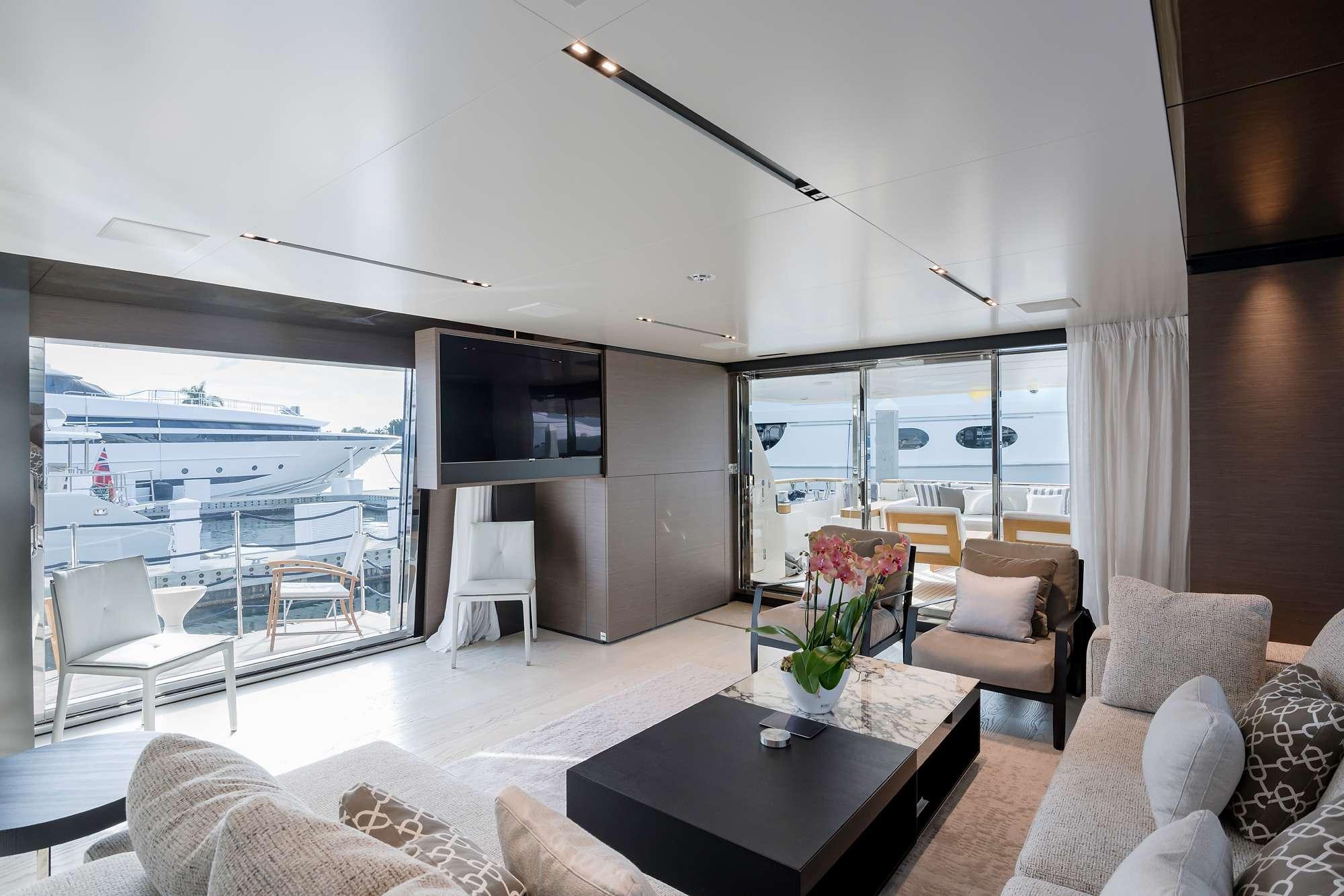 Salon with balcony