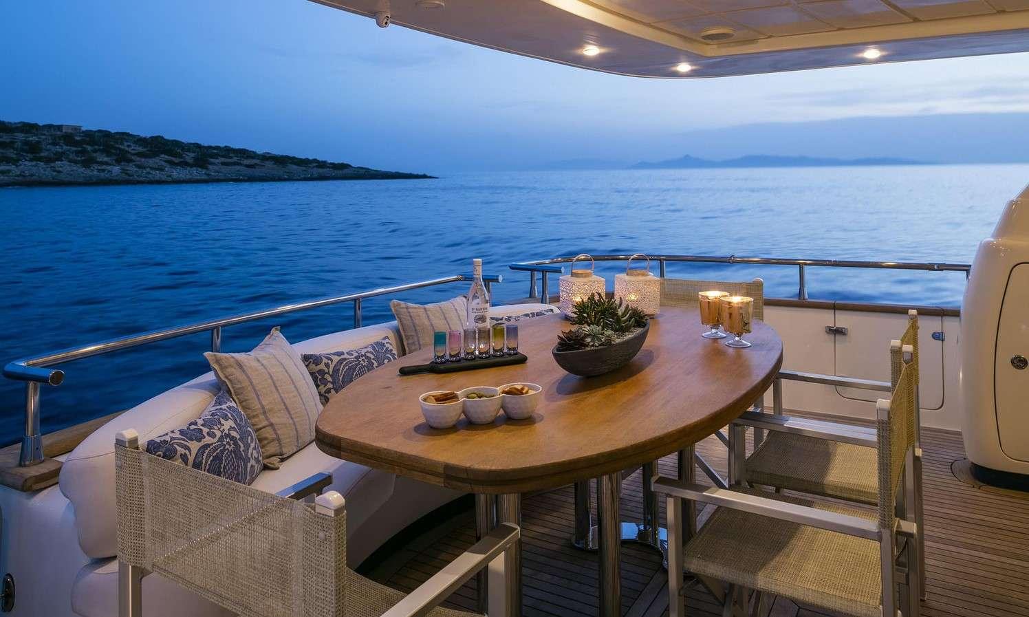 Aft deck night view